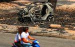 Καμένα  αυτοκίνητα από τις πυρκαγιές στη Ελλάδα